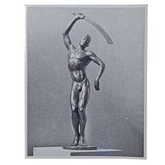 """Benga,"" Important Photograph of Barthe Sculpture by M. Smith"