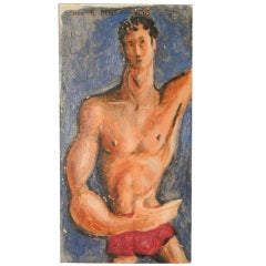 """""""Man in Red Trunks"""" by Raoul Pene du Bois, circa 1940s"""