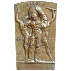 """Speed-Strength-Skill,"" Bronze Panel by Fred Torrey"