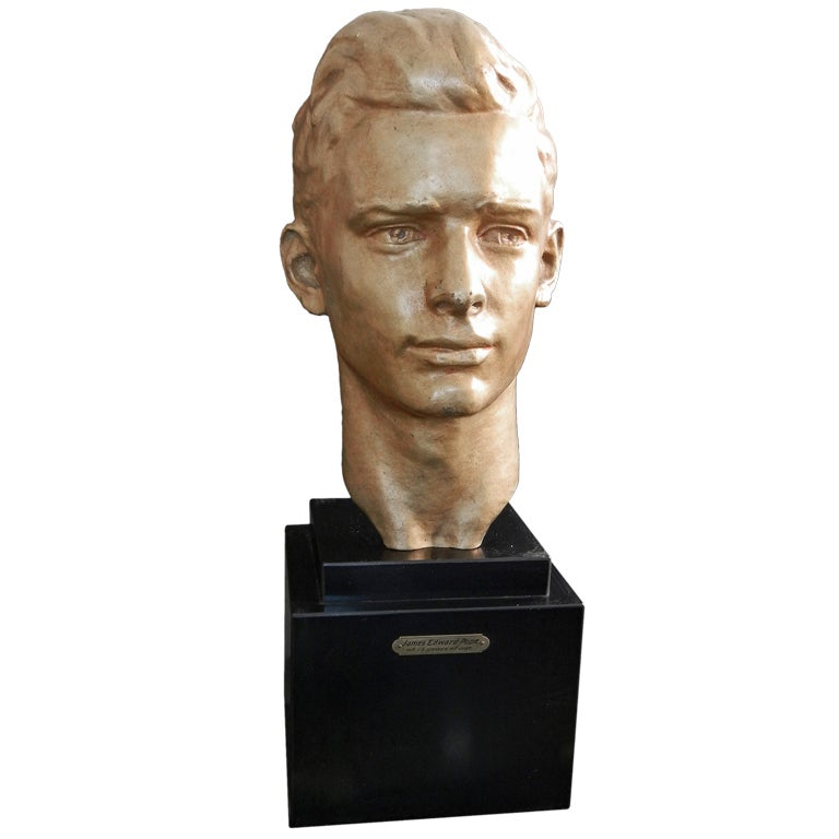 """""""James Edward Pope,"""" Very Fine Gilded Bronze Bust by Montana"""