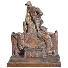 """Conquest of Spain,"" Extraordinary, Monumental Bronze Inkwell, Art Deco"
