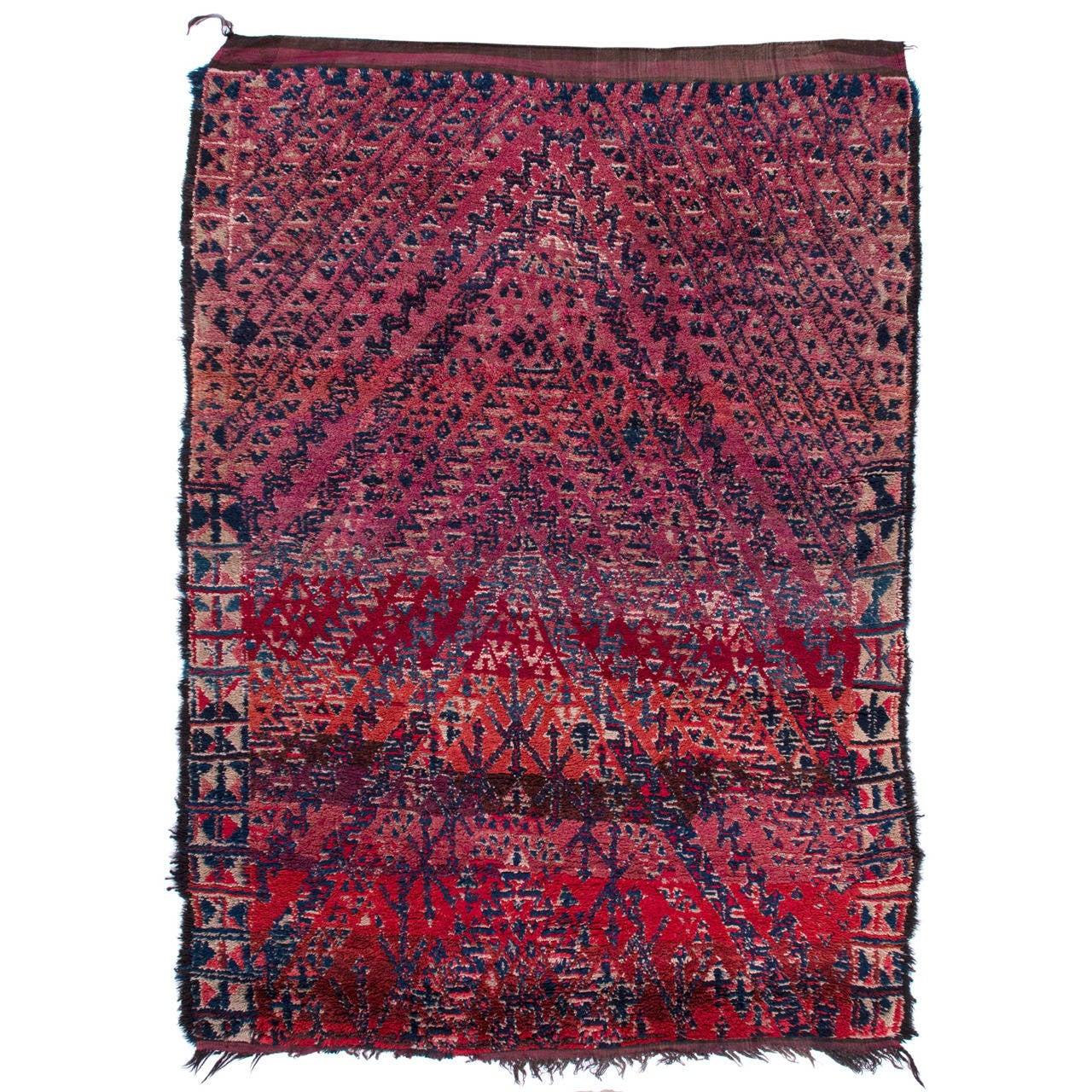 Vintage Moroccan Area Rug For Sale At 1stdibs: Vintage Moroccan Berber Rug At 1stdibs