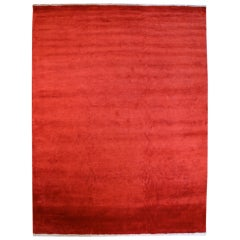 Red Silk Plush with White End Panels