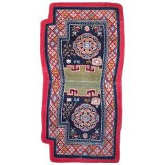 Antique Tibetan Saddle Carpet