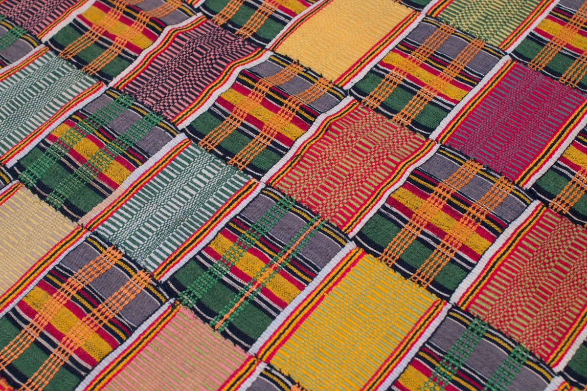 Multi Colored Vintage African Ewe Fabric 6