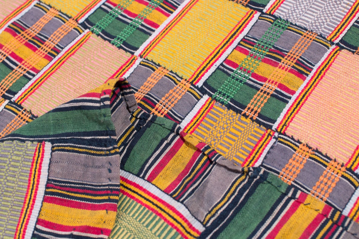 Multi Colored Vintage African Ewe Fabric 8