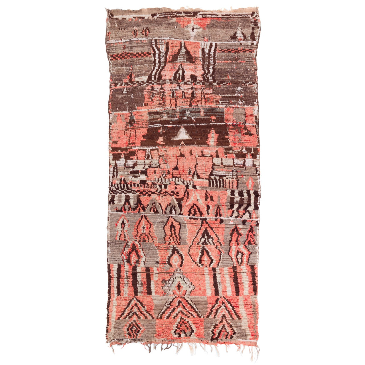 Distinct Pink Vintage Moroccan Berber Rug