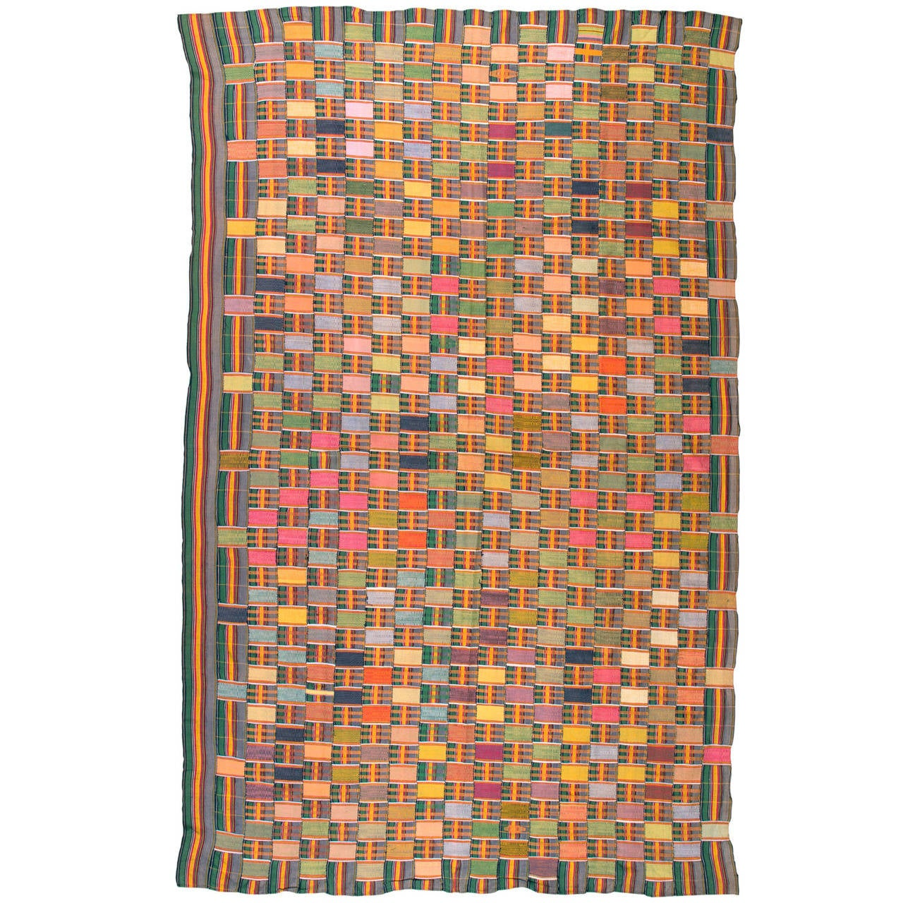 Multi Colored Vintage African Ewe Fabric 1