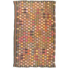 Multi Colored Vintage African Ewe Fabric