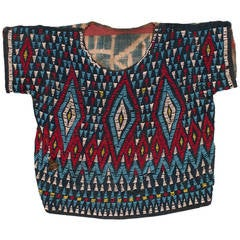 An Antique Beaded Ceremonial Dance Shirt From Cameroon, Africa
