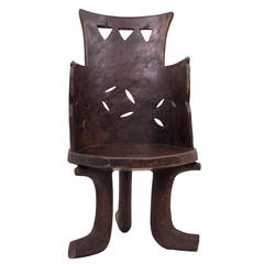 Traditional Ethiopian Wood Chair