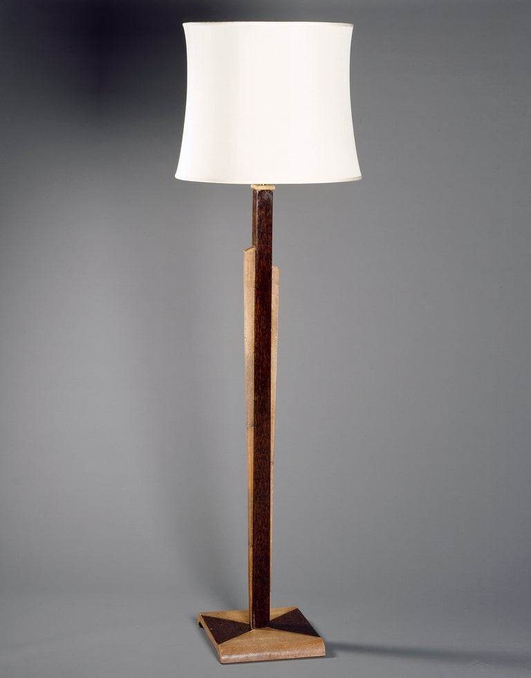 A Shagreen and Palmwood Standard Lamp image 2