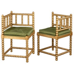 A Pair of 19th Century Danish Giltwood Chairs