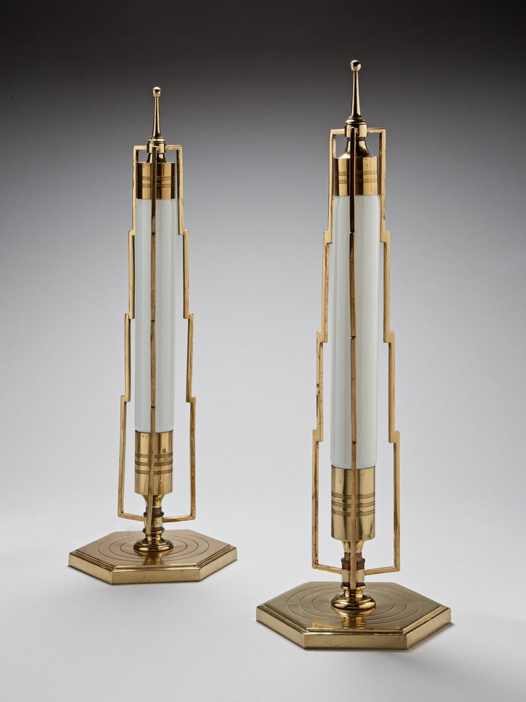 A Pair Of Art Deco Table Lamps At 1stdibs
