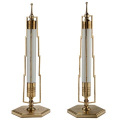 A Pair of Art Deco Table Lamps