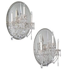 A Pair of Glass Wall Lights