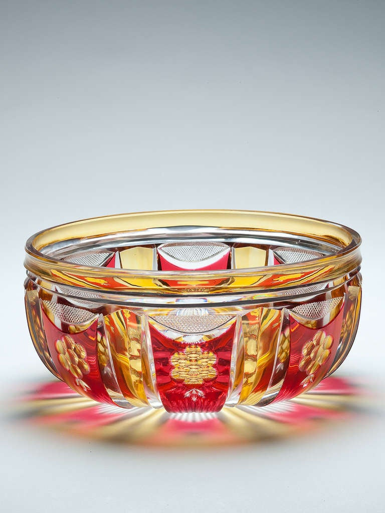 An Art Deco Val St Lambert Crystal Glass Bowl At 1stdibs