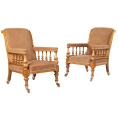 A Pair of Mid 19th Century Arm Chairs