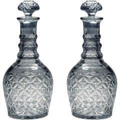 A Pair of Double Magnum Decanters