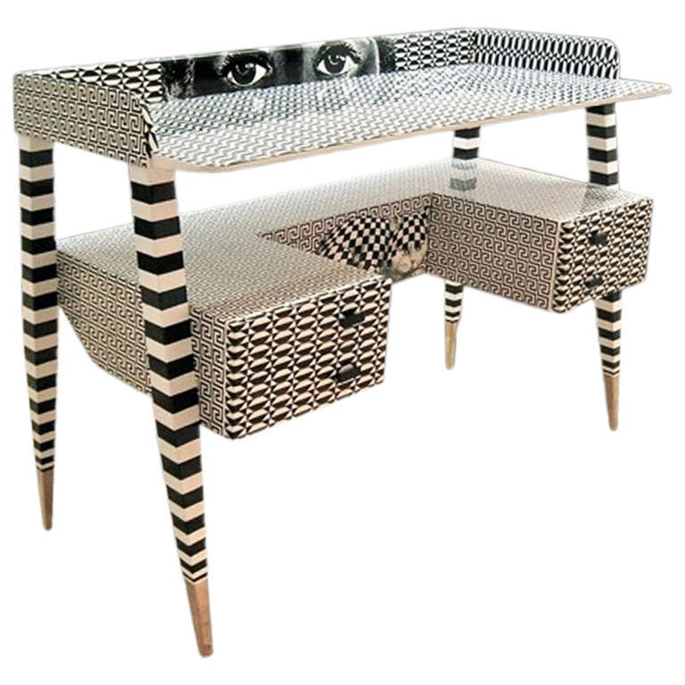 'Optique' Desk by Piero and Barnaba Fornasetti, 2009 For Sale