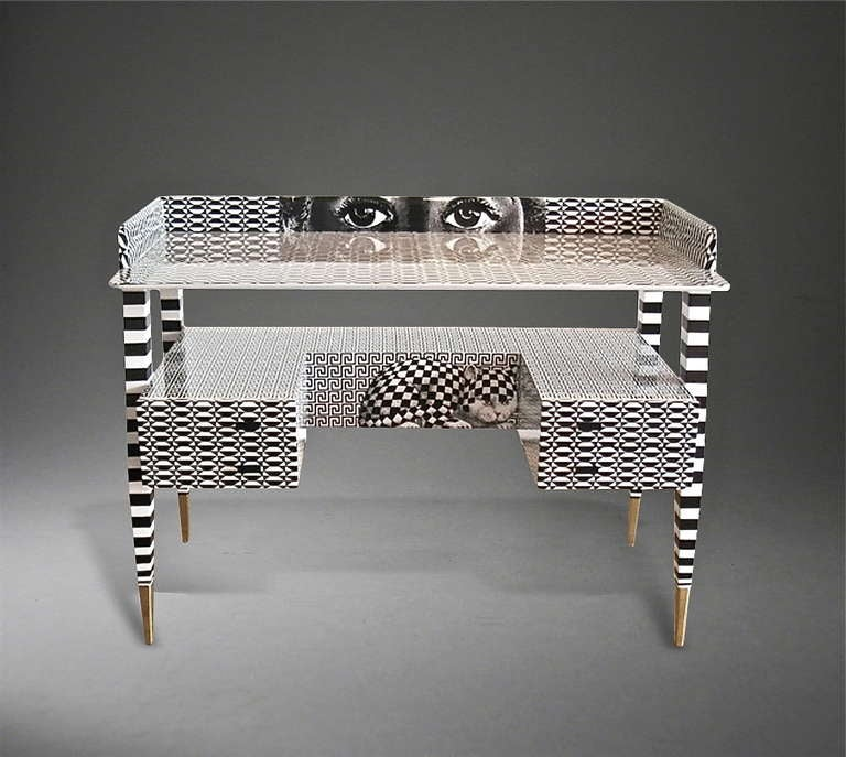'Optique' Desk by Piero and Barnaba Fornasetti, 2009 In Excellent Condition For Sale In London, GB