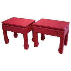 Pair of 'Clachine' side tables by Christian Astuguevieille