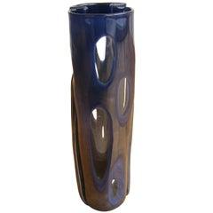 'Scolpito' Glass Vase by Toni Zuccheri, for Venini, circa 1965