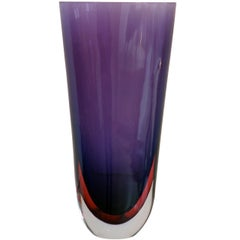 Sommerso Glass Vase by Flavio Poli, 1962