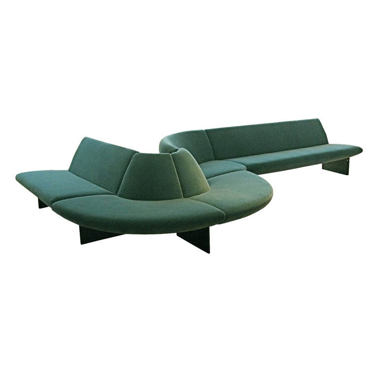 Comtom Dixon Sofa : Serpentine Sofa, by Tom Dixon, prototype at 1stdibs