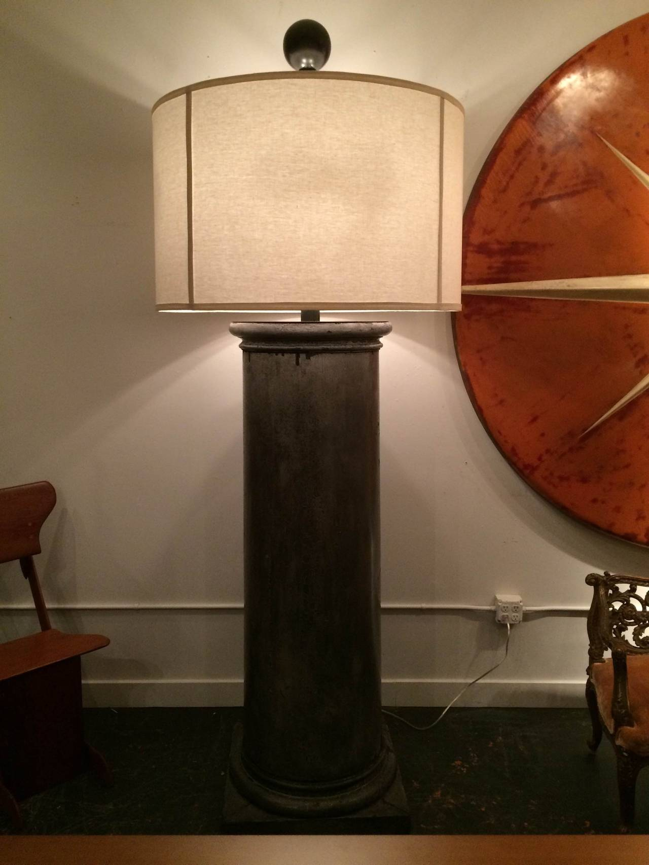 Custom Monumental Column Floor Lamps At 1stdibs