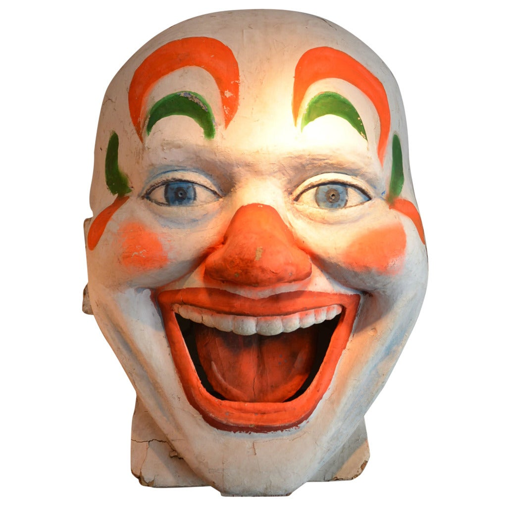 Amusement Park Clown Face At 1stdibs