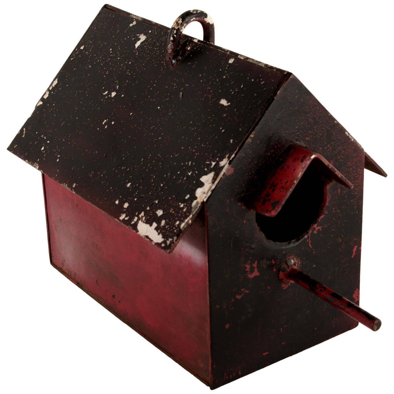 Handmade Metal Birdhouse At 1stdibs