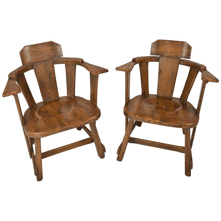 Old Hickory pany Rustic Armchairs at 1stdibs