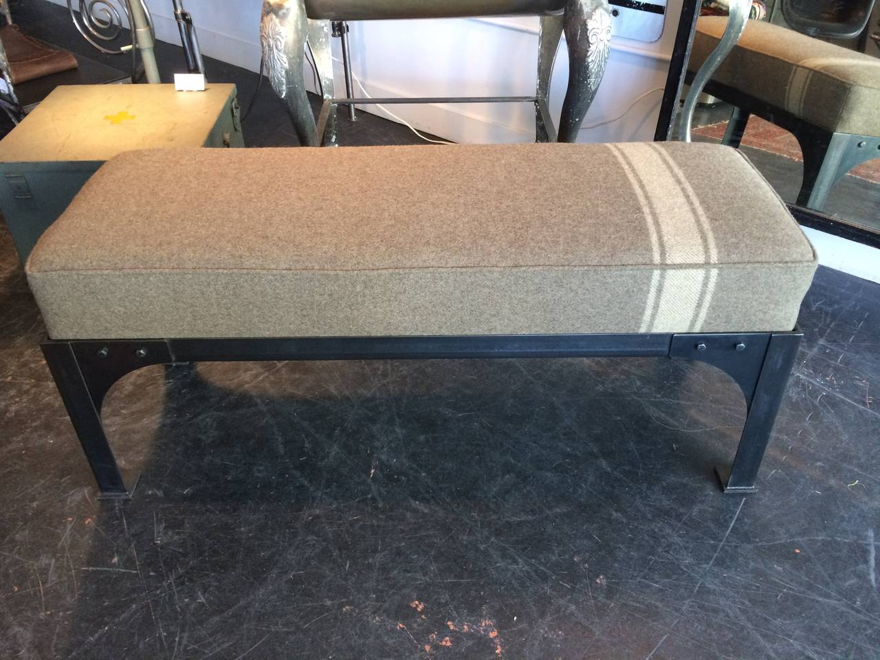 Military Bench In Excellent Condition For Sale In Seattle, WA