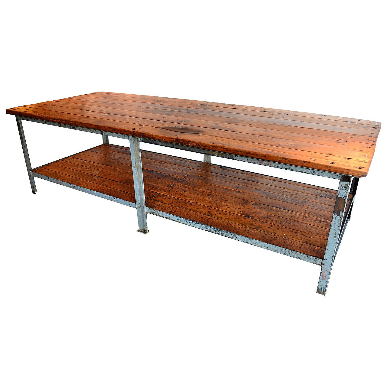 Double decker work table at 1stdibs for Furniture work table