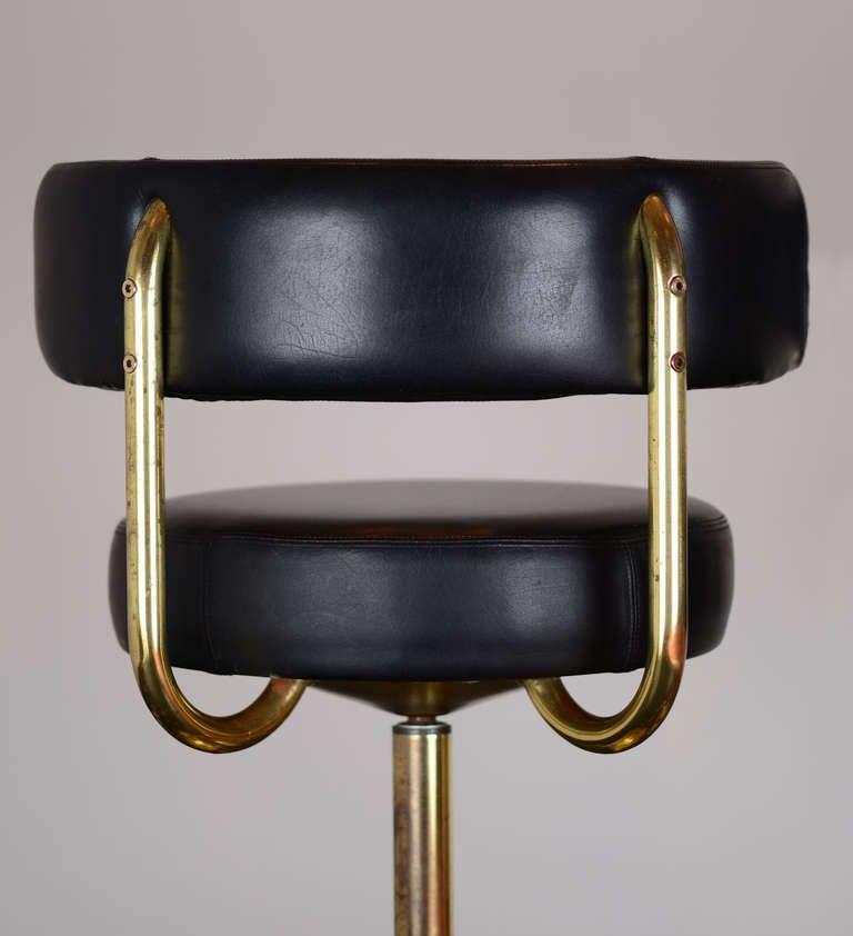 Pair Of Vintage Swivel Brass Bar Stools At 1stdibs