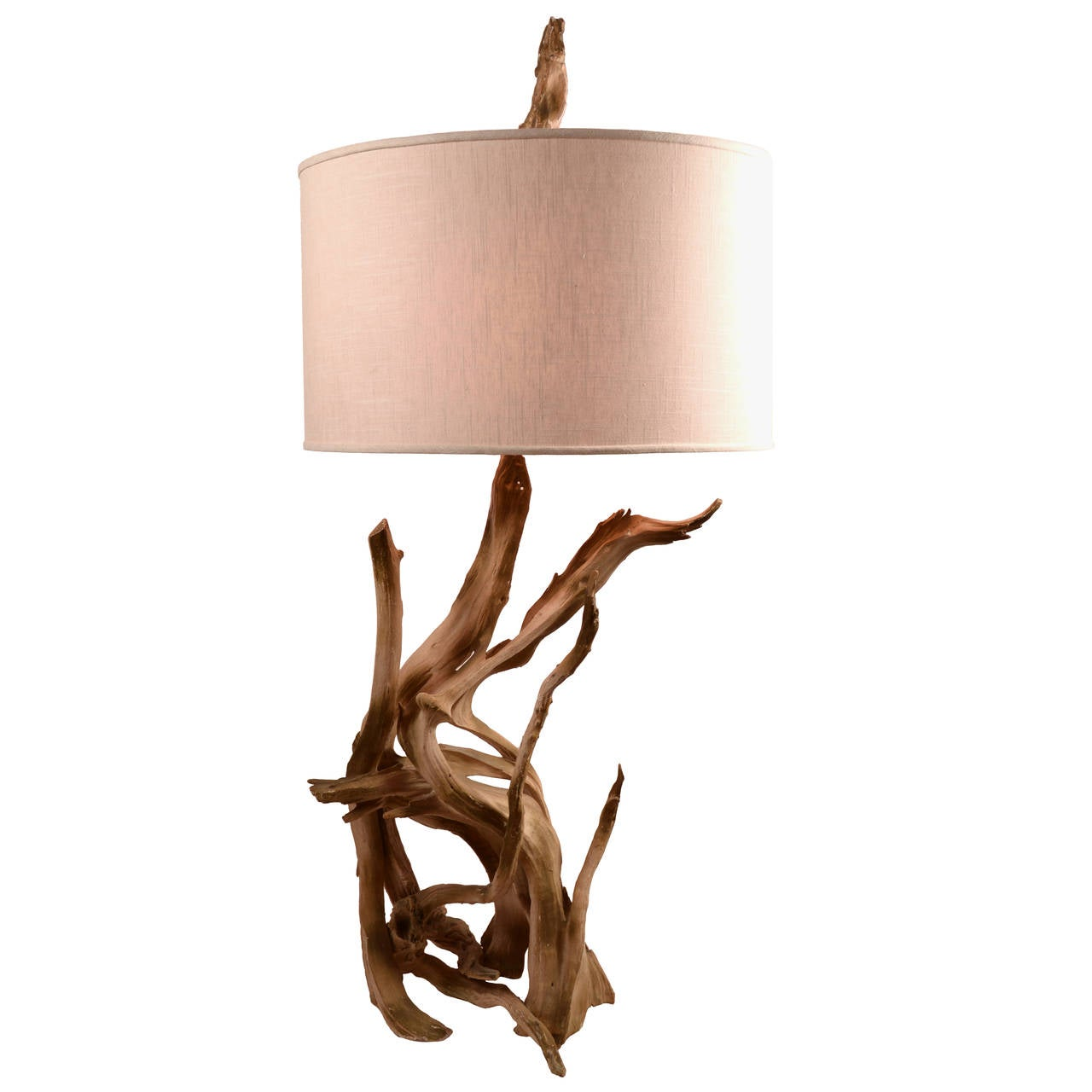 Iconic Driftwood Table Lamp At 1stdibs