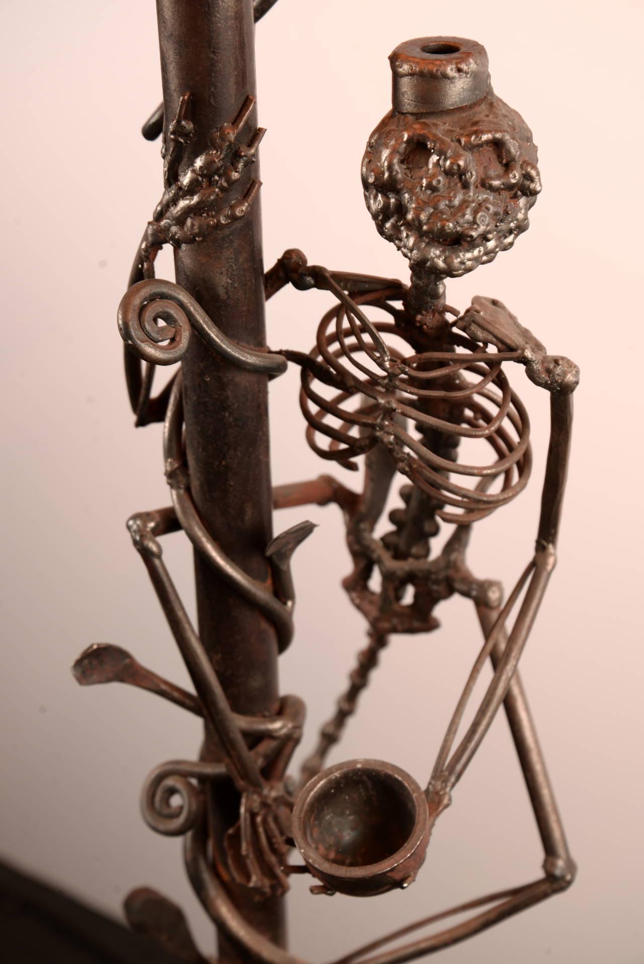 monkey skeleton floor lamp for sale at 1stdibs. Black Bedroom Furniture Sets. Home Design Ideas