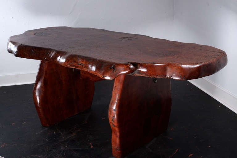 Rustic Slab Pine Table Desk At 1stdibs