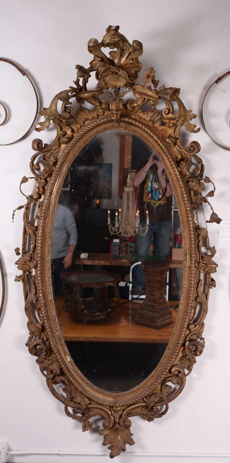 Large Victorian Giltwood Mirror At 1stdibs