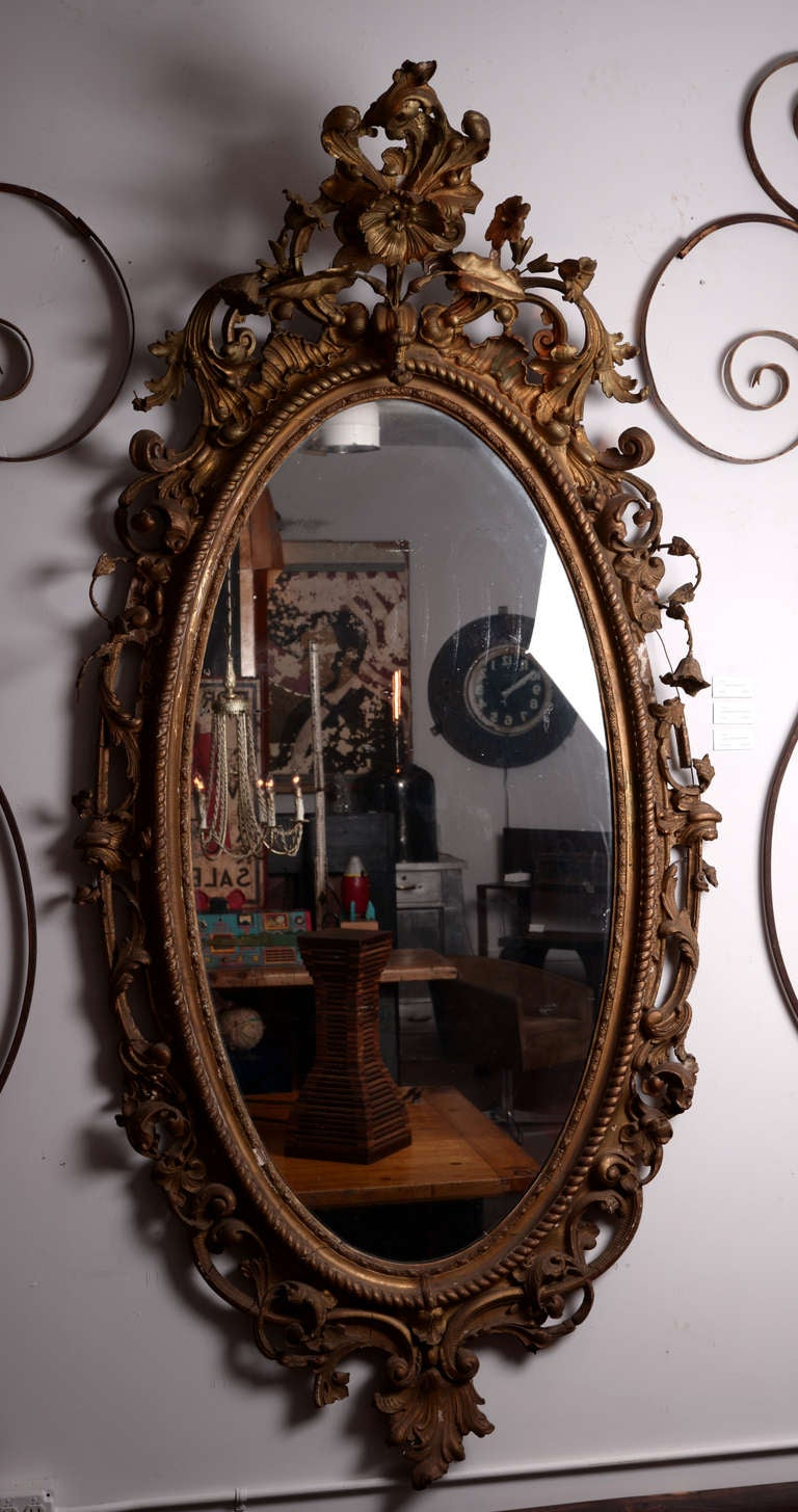 Large Victorian Giltwood Mirror At 1stdibs