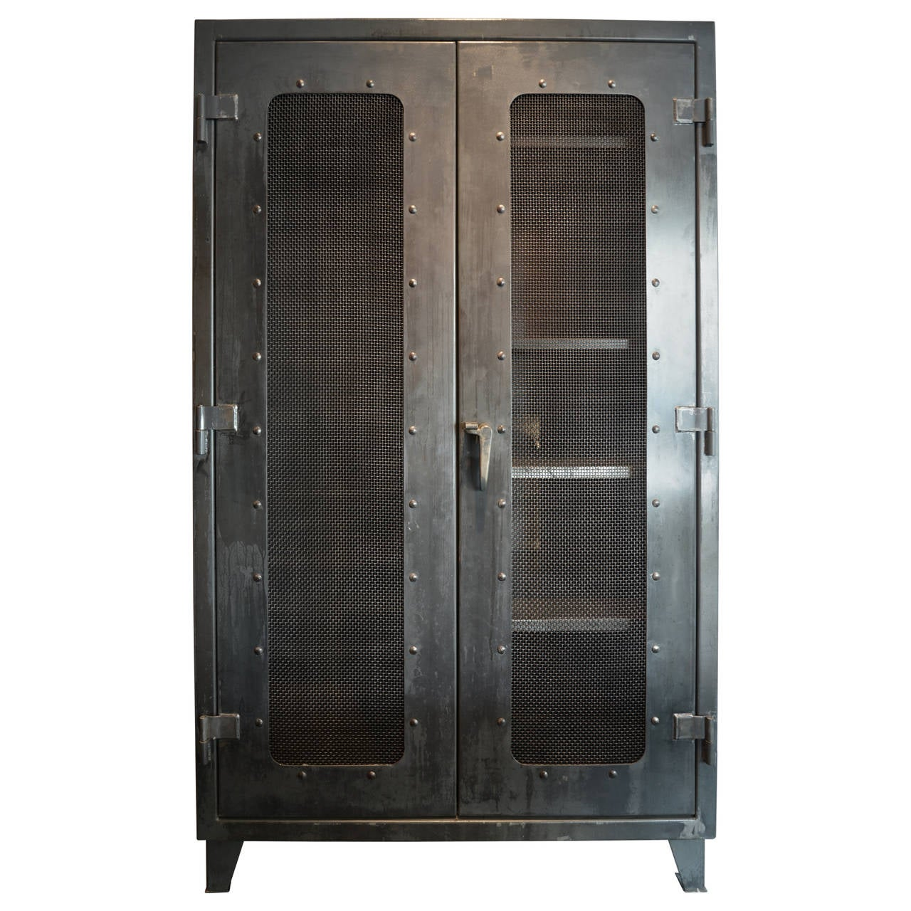 Large Two Door Steel Cabinet At 1stdibs