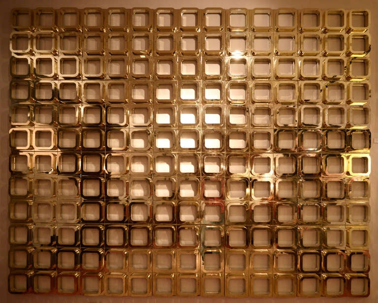 Gold Molded Resin Geometric Wall Installation 2