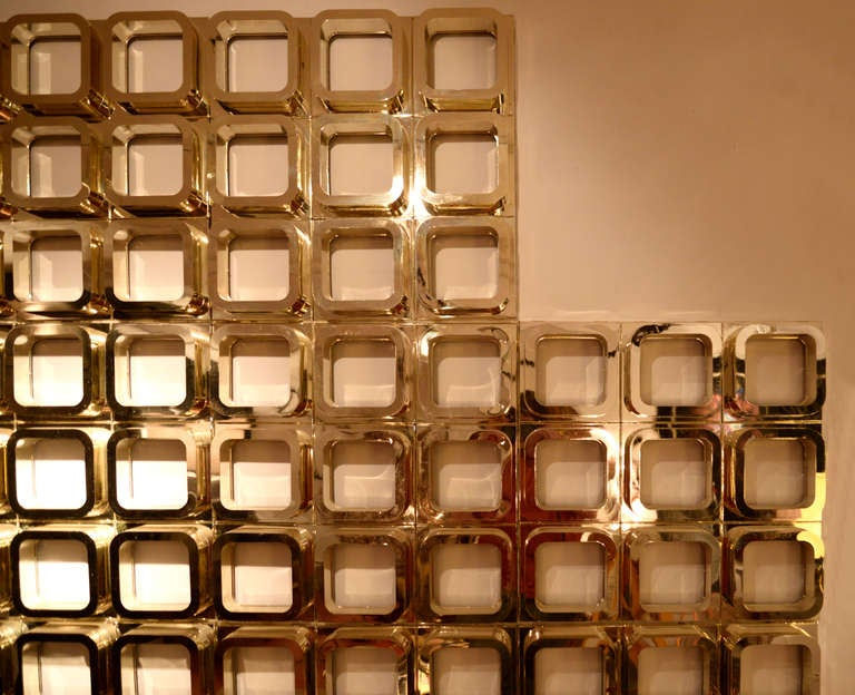 Gold Molded Resin Geometric Wall Installation 4