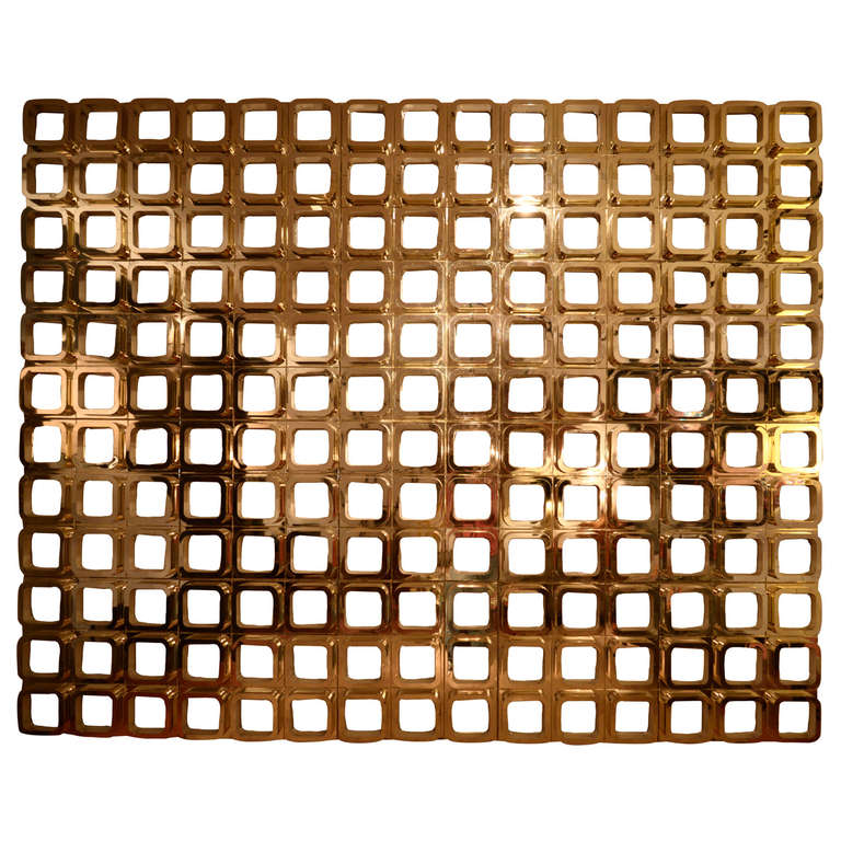 Gold Molded Resin Geometric Wall Installation 1