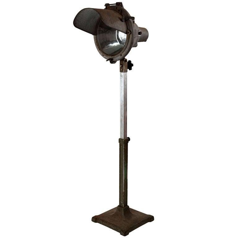 Crouse hinds spotlight floor lamp at 1stdibs for 3 spotlight floor lamp