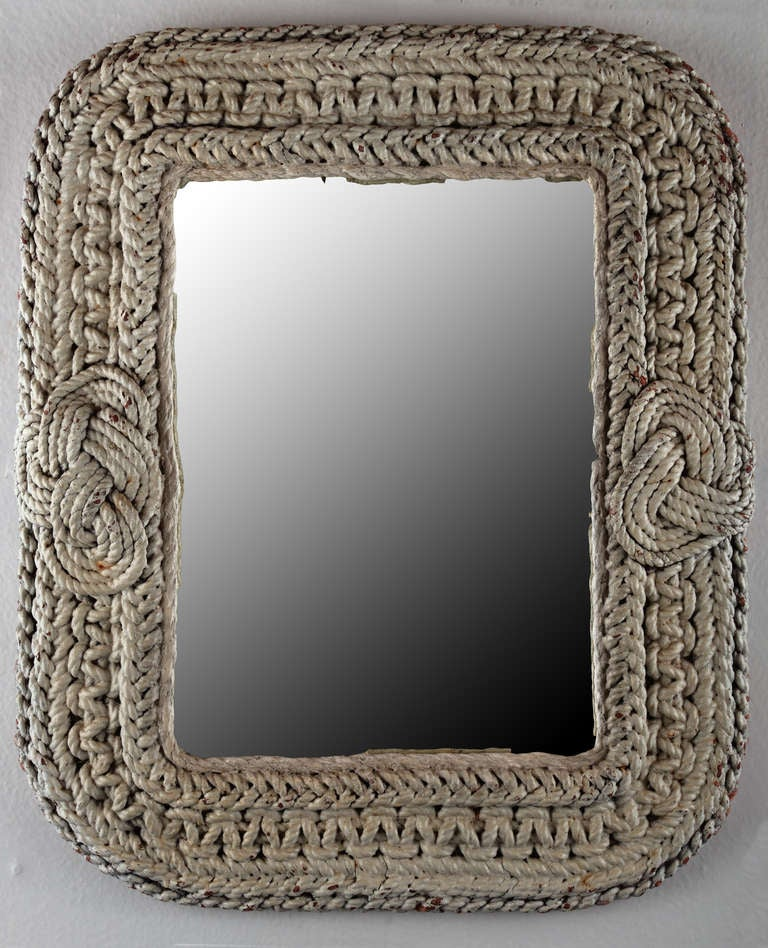 vintage mirror with nautical rope frame 2 - Nautical Picture Frame
