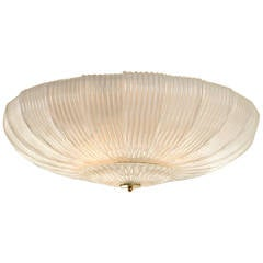 Sleek and Modern Murano Blown Ceiling Fixture