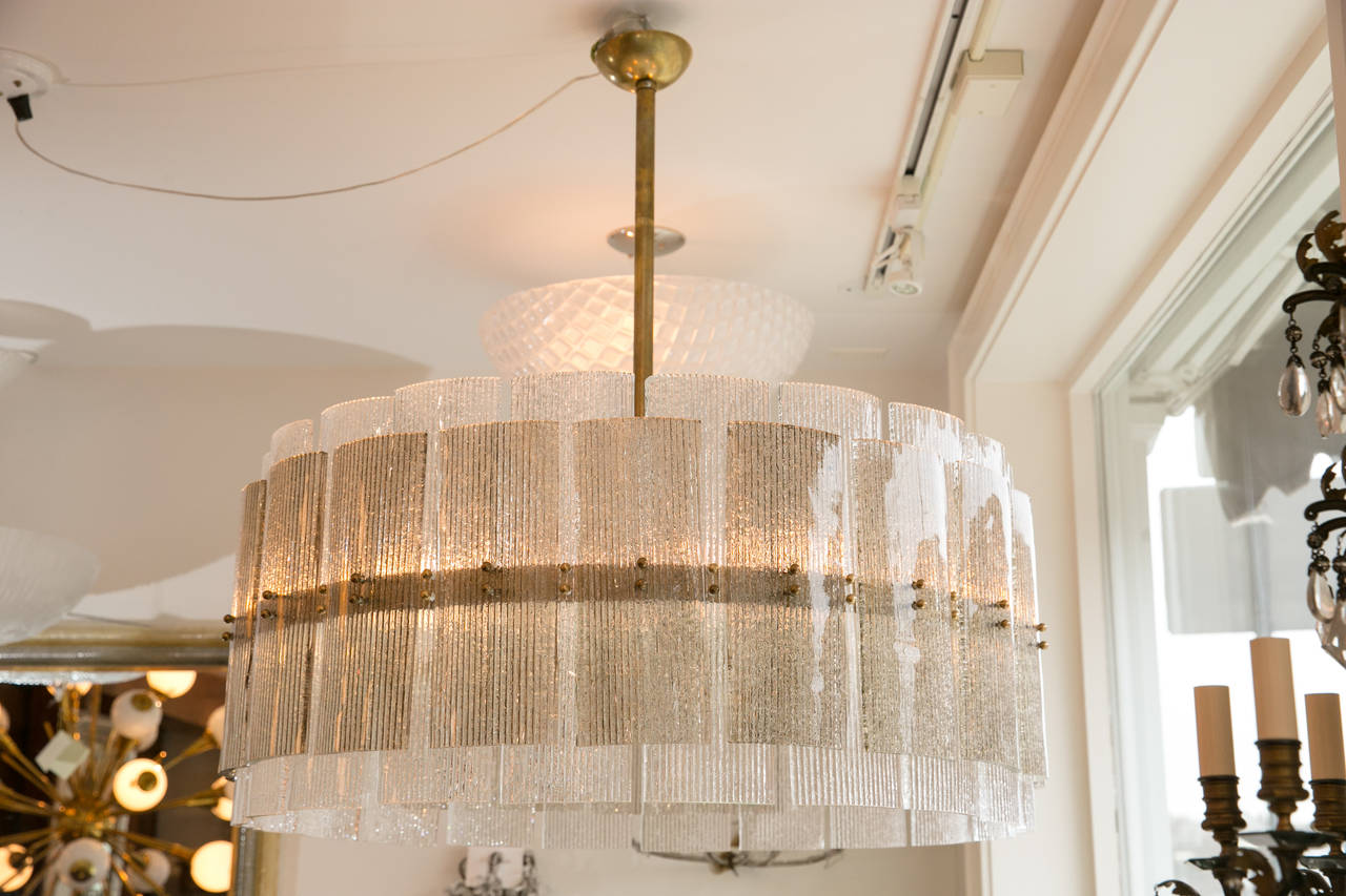 Large Drum Chandelier At 1stdibs