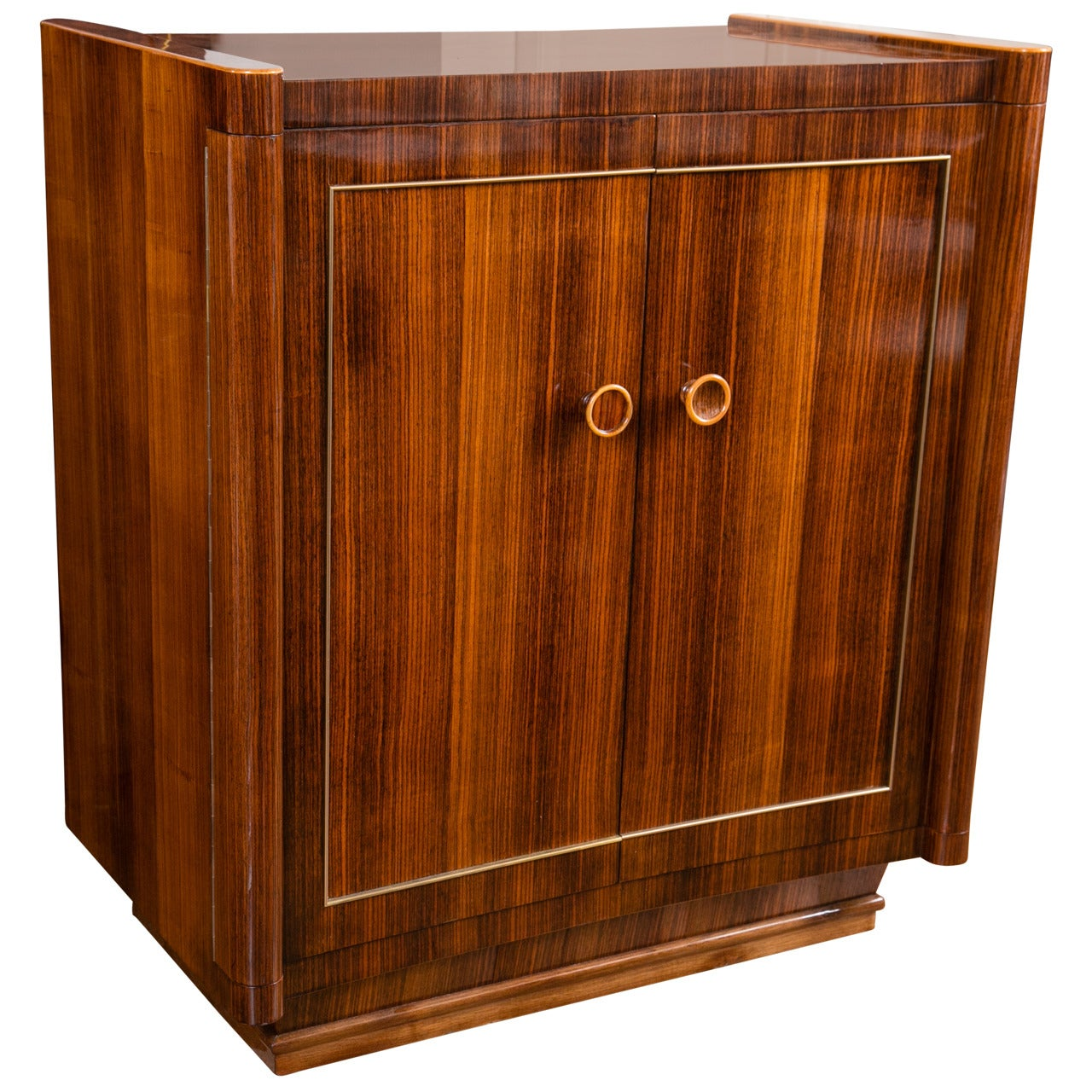 French Mid-Century Rosewood Concave Cabinet